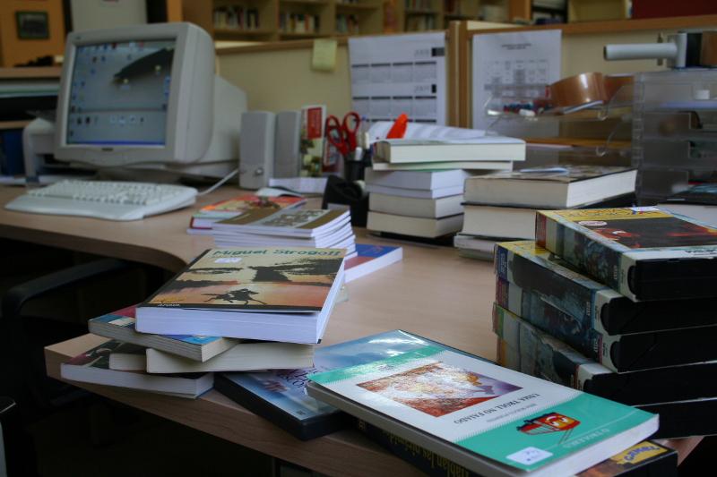 Biblioteca do IES Auga da Laxe (Gondomar, Pontevedra). 2009